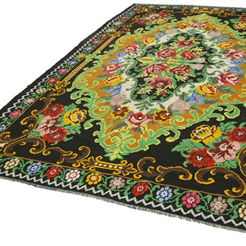 Çok Renkli Vintage Moldova Kilimi - 220 cm x 342 cm - K0038984
