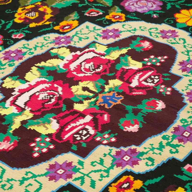 Çok Renkli Vintage Moldova Kilimi - 218 cm x 255 cm - K0038985