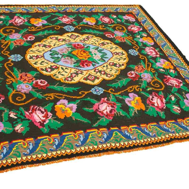 Çok Renkli Vintage Moldova Kilimi - 205 cm x 213 cm - K0038986