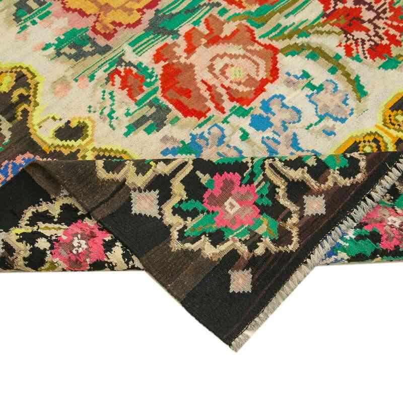 Çok Renkli Vintage Moldova Kilimi - 181 cm x 211 cm - K0038992