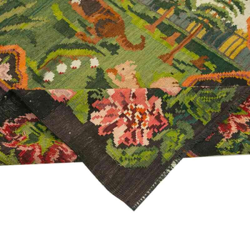 Çok Renkli Vintage Moldova Kilimi - 203 cm x 222 cm - K0039018