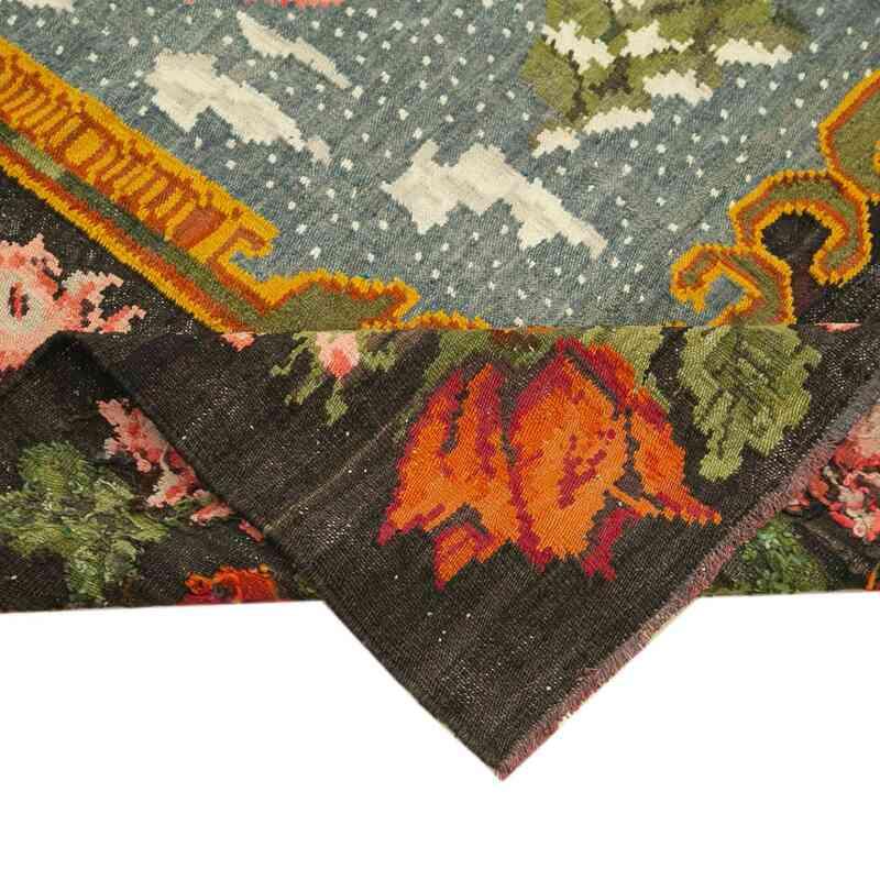 Çok Renkli Vintage Moldova Kilimi - 174 cm x 210 cm - K0039021