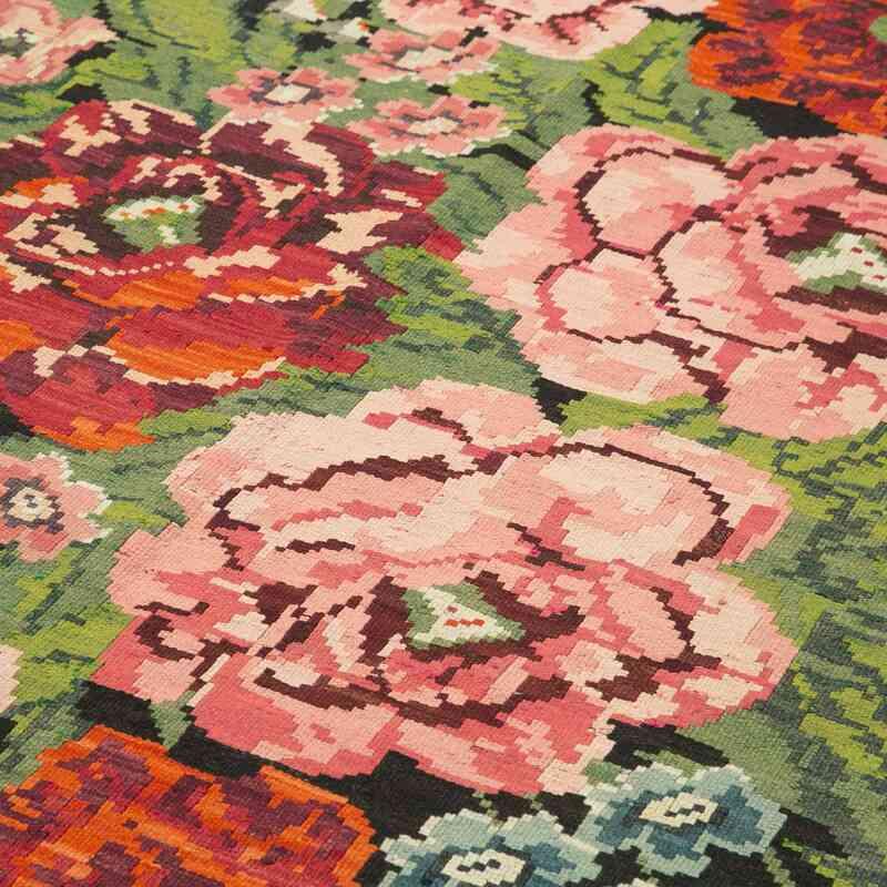 Çok Renkli Vintage Moldova Kilimi - 218 cm x 387 cm - K0039024