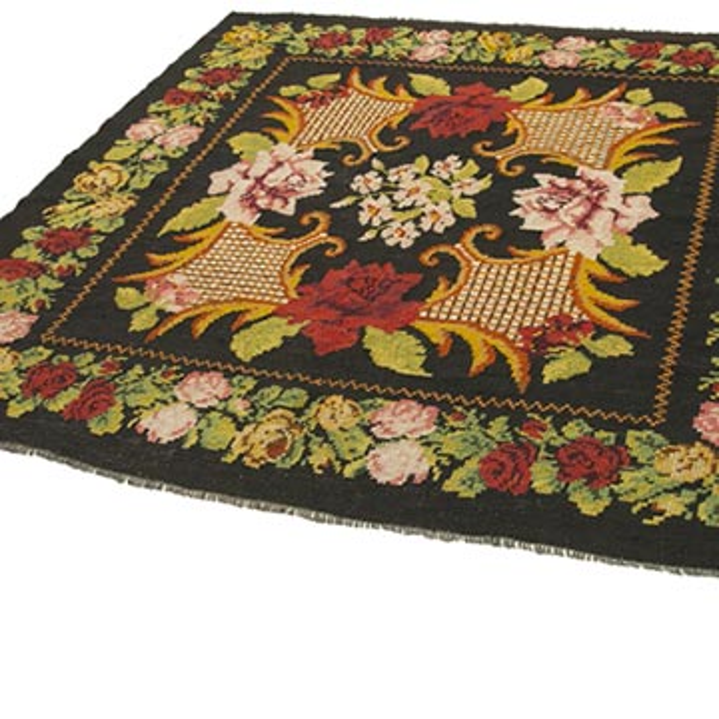 Çok Renkli Vintage Moldova Kilimi - 185 cm x 195 cm - K0039040