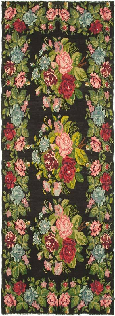 """Multicolor Vintage Handwoven Moldovan Kilim Area Rug - 6' 4"""" x 17' 7"""" (76 in. x 211 in.)"""