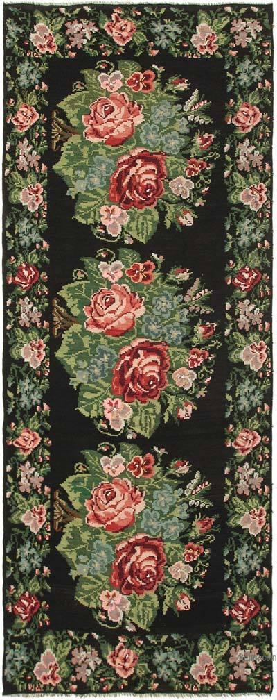 "Vintage Handwoven Moldovan Kilim Area Rug - 6' 6"" x 16'  (78 in. x 192 in.)"