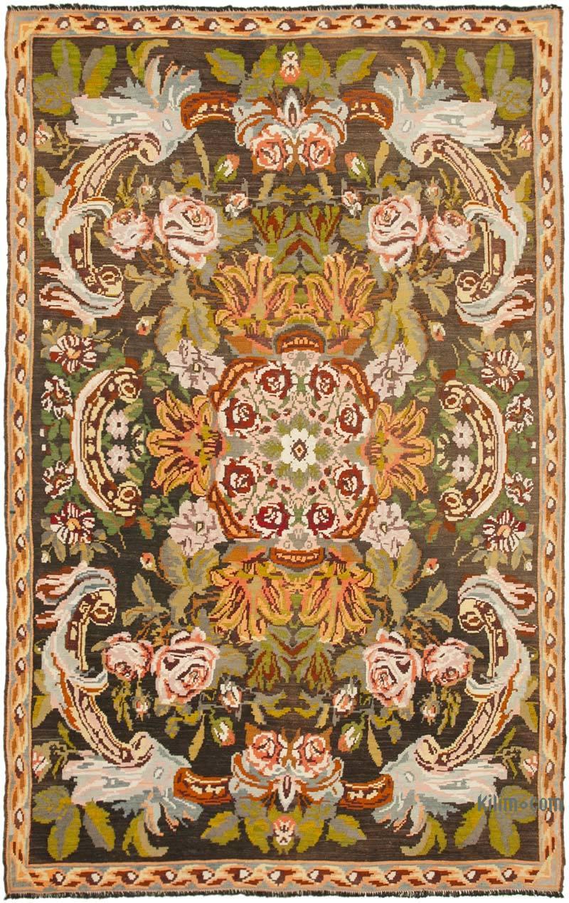 Çok Renkli Vintage Moldova Kilimi - 222 cm x 348 cm - K0039060