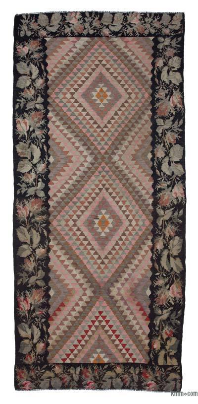 "Vintage Handwoven Moldovan Kilim Area Rug - 5'9"" x 12'6"" (69 in. x 150 in.)"
