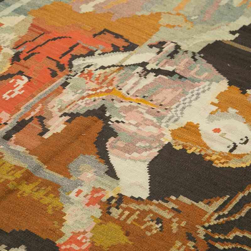 Çok Renkli Vintage Moldova Kilimi - 172 cm x 256 cm - K0039069