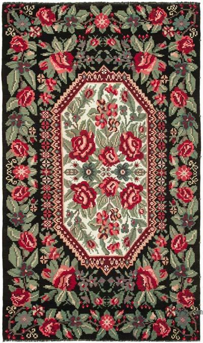 Çok Renkli Vintage Moldova Kilimi - 200 cm x 338 cm