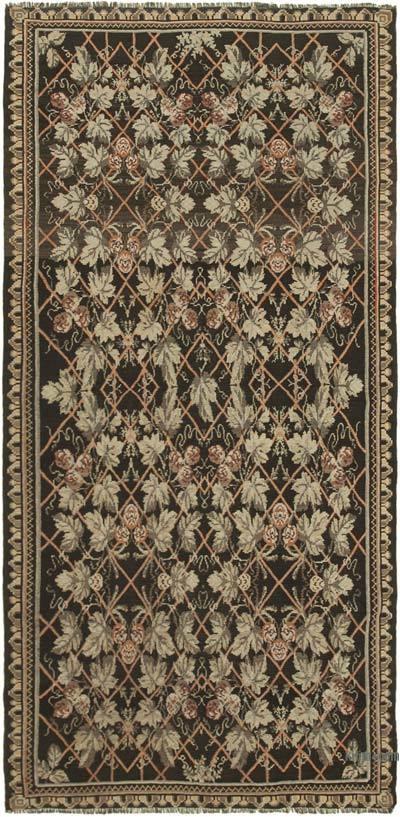 "Vintage Handwoven Moldovan Kilim Area Rug - 5'10"" x 11'9"" (70 in. x 141 in.)"