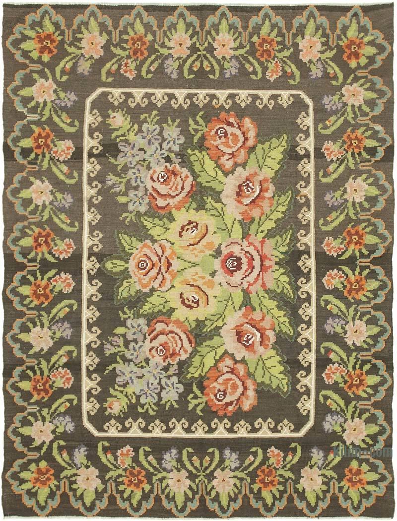 Çok Renkli Vintage Moldova Kilimi - 189 cm x 248 cm - K0039078