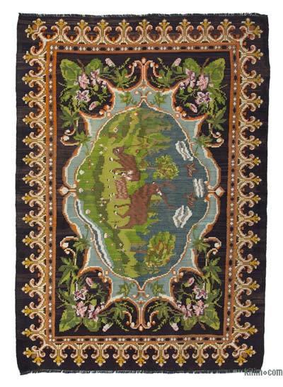 Vintage Moldova Kilimi - 180 cm x 260 cm