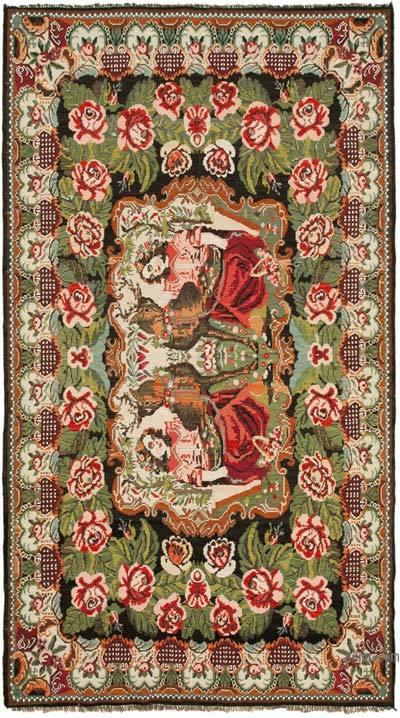 Çok Renkli Vintage Moldova Kilimi - 193 cm x 340 cm