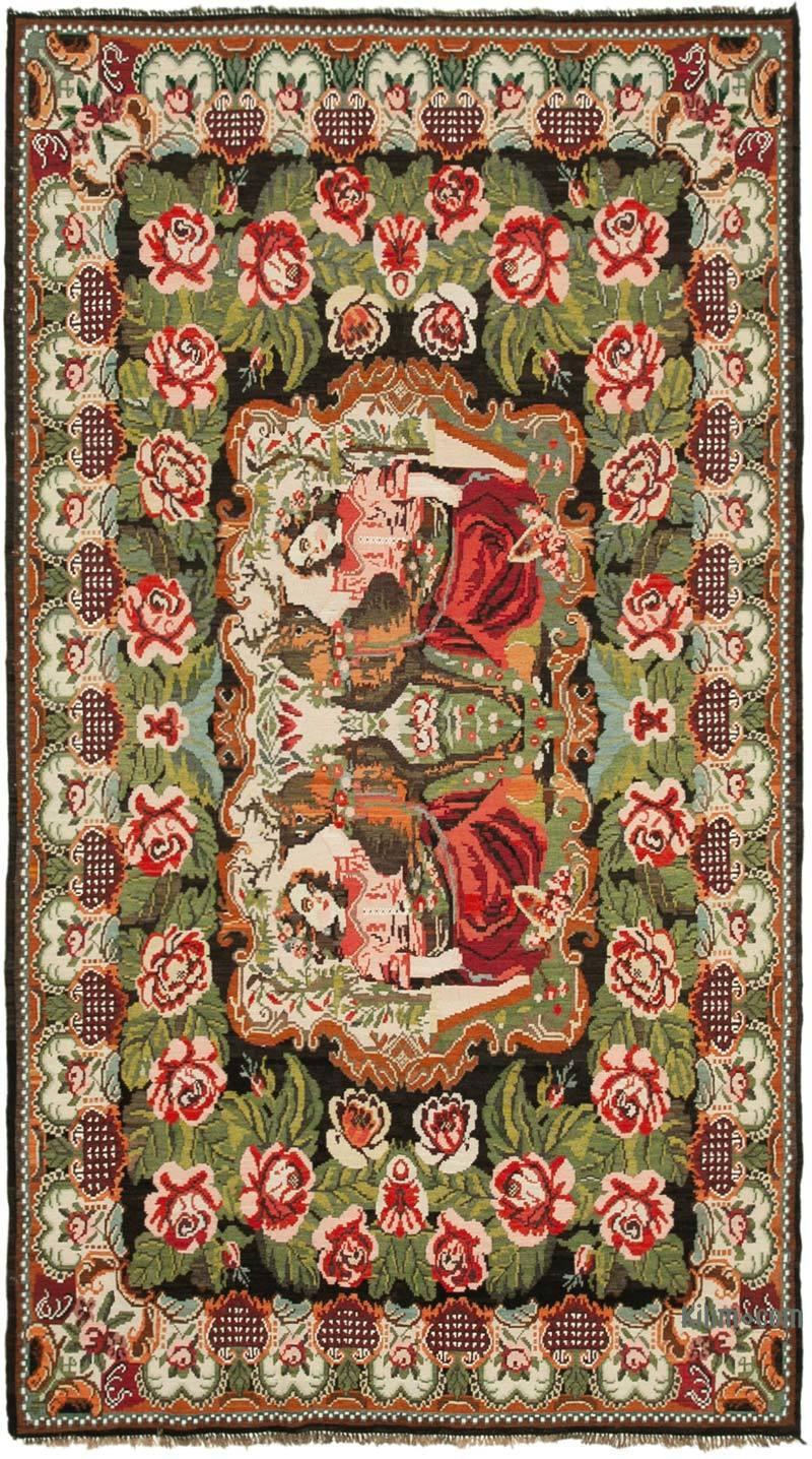 Çok Renkli Vintage Moldova Kilimi - 193 cm x 340 cm - K0039086