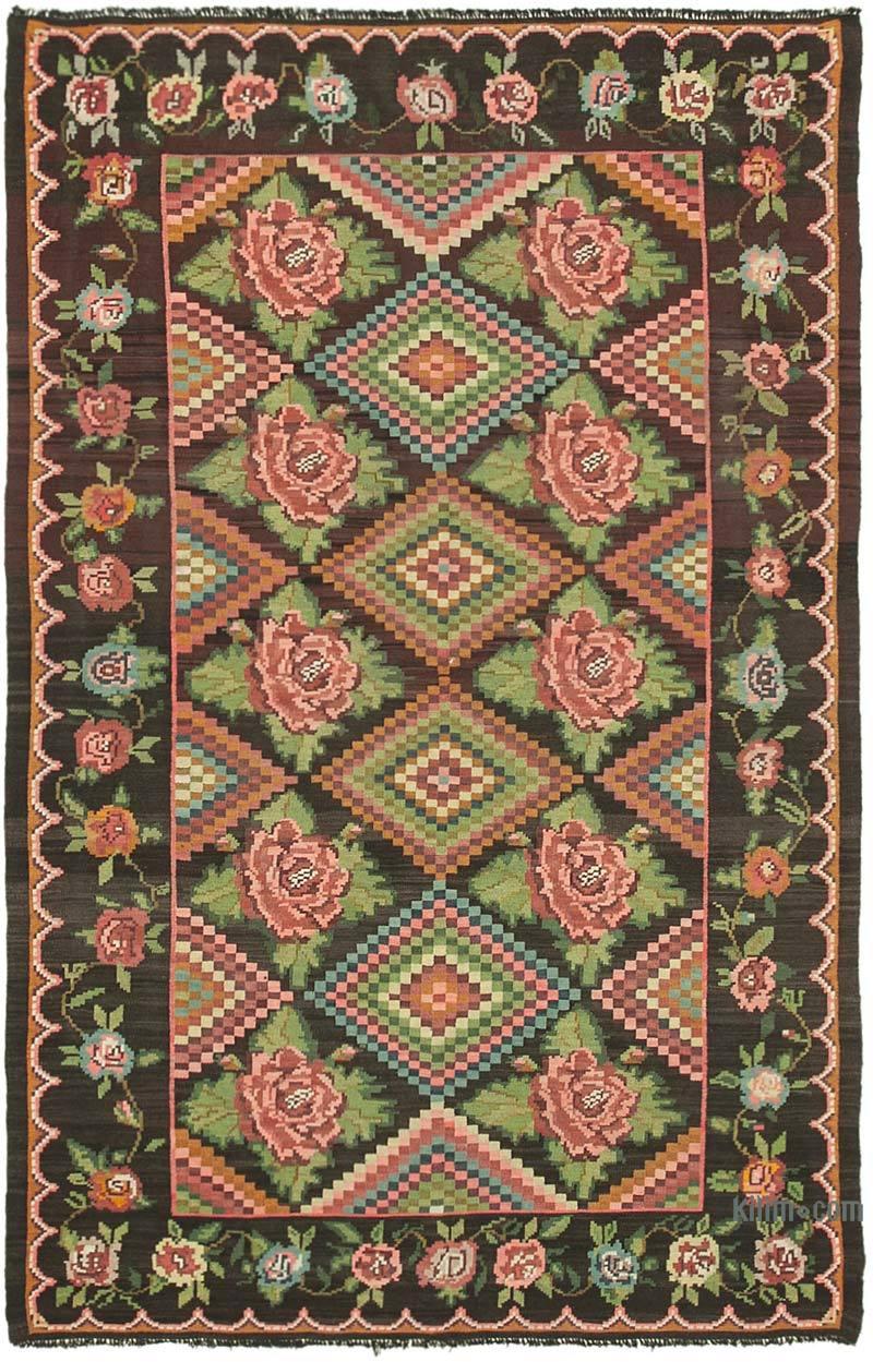 Multicolor Alfombra Vintage Moldovan Kilim - 192 cm x 290 cm - K0039095