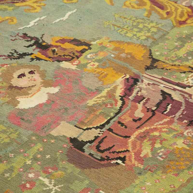Çok Renkli Vintage Moldova Kilimi - 190 cm x 260 cm - K0039096