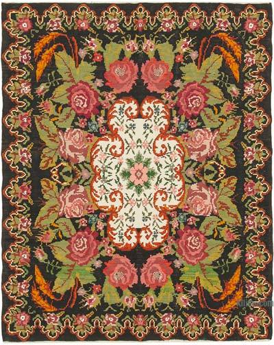Çok Renkli Vintage Moldova Kilimi - 205 cm x 258 cm