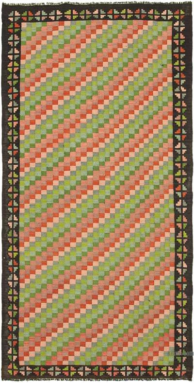 Çok Renkli Vintage Moldova Kilimi - 160 cm x 317 cm