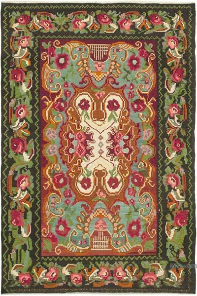 Çok Renkli Vintage Moldova Kilimi - 190 cm x 278 cm