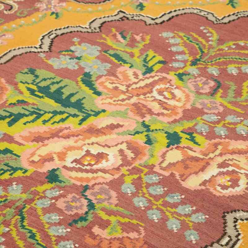 Çok Renkli Vintage Moldova Kilimi - 186 cm x 312 cm - K0039118