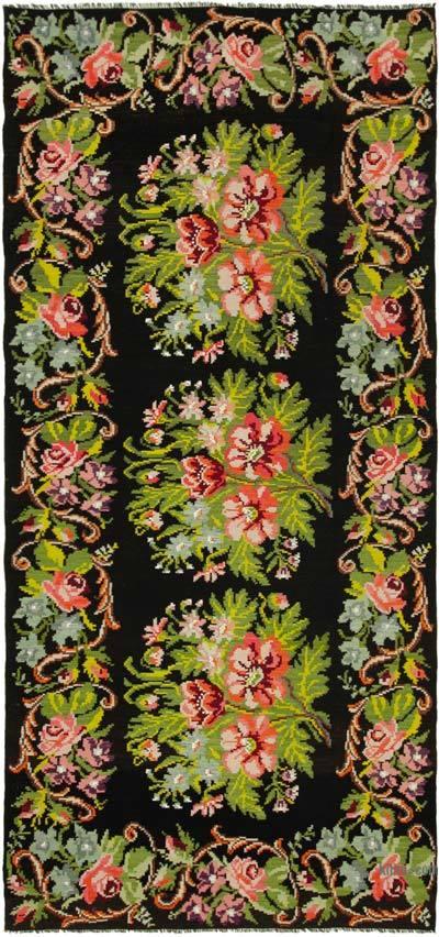 "Vintage Handwoven Moldovan Kilim Area Rug - 6' 4"" x 13' 3"" (76 in. x 159 in.)"