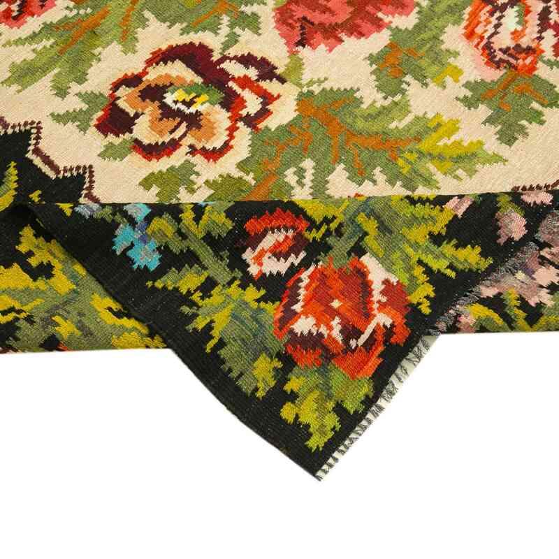 """Multicolor Vintage Handwoven Moldovan Kilim Area Rug - 5' 11"""" x 8' 6"""" (71 in. x 102 in.) - K0039129"""