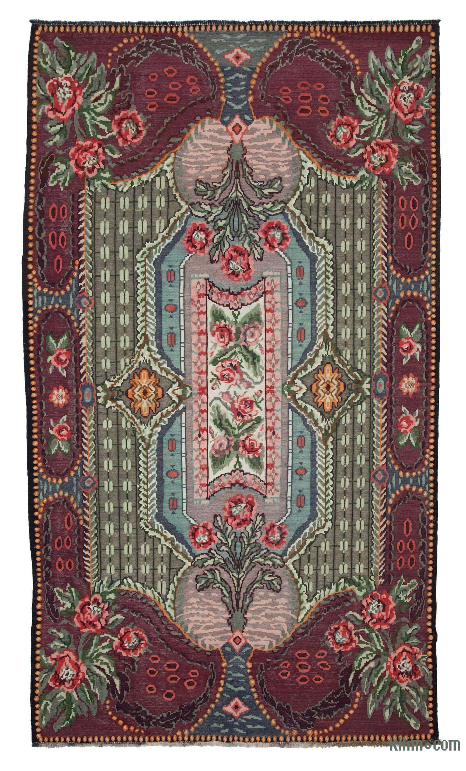 Handwoven Moldovan Kilim Area Rug