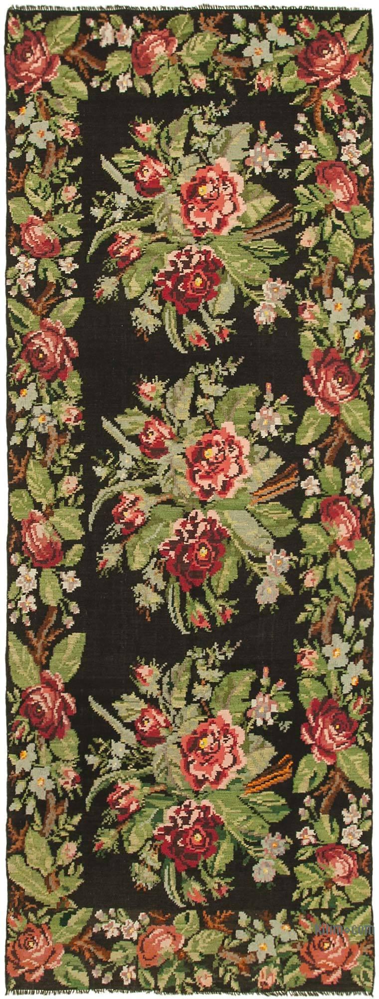 Multicolor Vintage Handwoven Moldovan Kilim Area Rug - 5' 8# x 14' 11# (68 in. x 179 in.) - K0039145