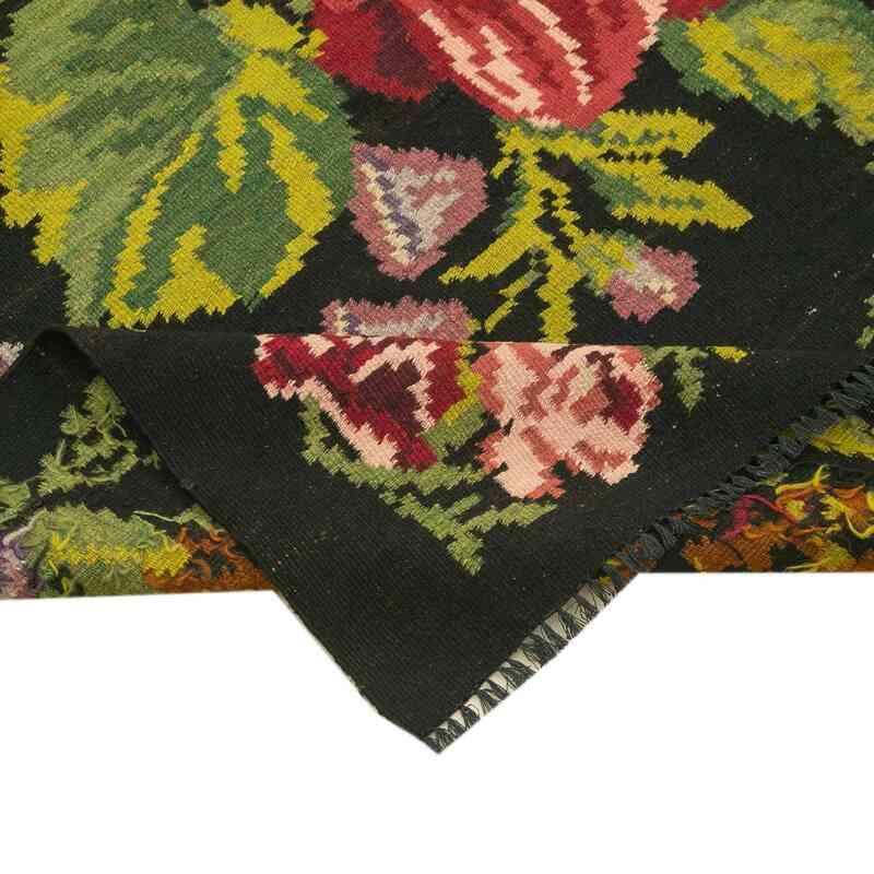 """Multicolor Vintage Handwoven Moldovan Kilim Area Rug - 6'  x 17' 5"""" (72 in. x 209 in.) - K0039148"""