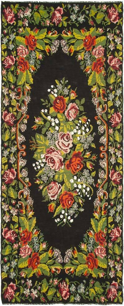 "Vintage Handwoven Moldovan Kilim Area Rug - 6'11"" x 16'10"" (83 in. x 202 in.)"
