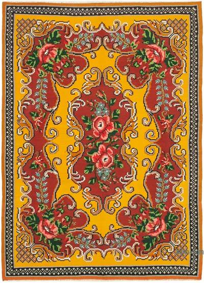 "Vintage Handwoven Moldovan Kilim Area Rug - 6' x 8'1"" (72 in. x 97 in.)"