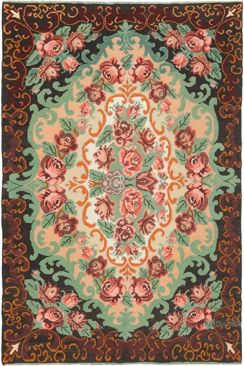 Multicolor Alfombra Vintage Moldovan Kilim - 203 cm x 296 cm - K0039165