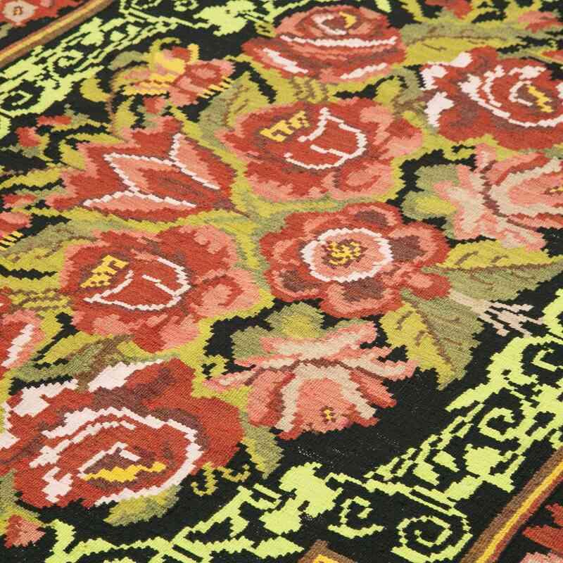 Çok Renkli Vintage Moldova Kilimi - 187 cm x 289 cm - K0039168