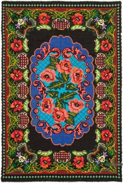 Çok Renkli Vintage Moldova Kilimi - 200 cm x 296 cm