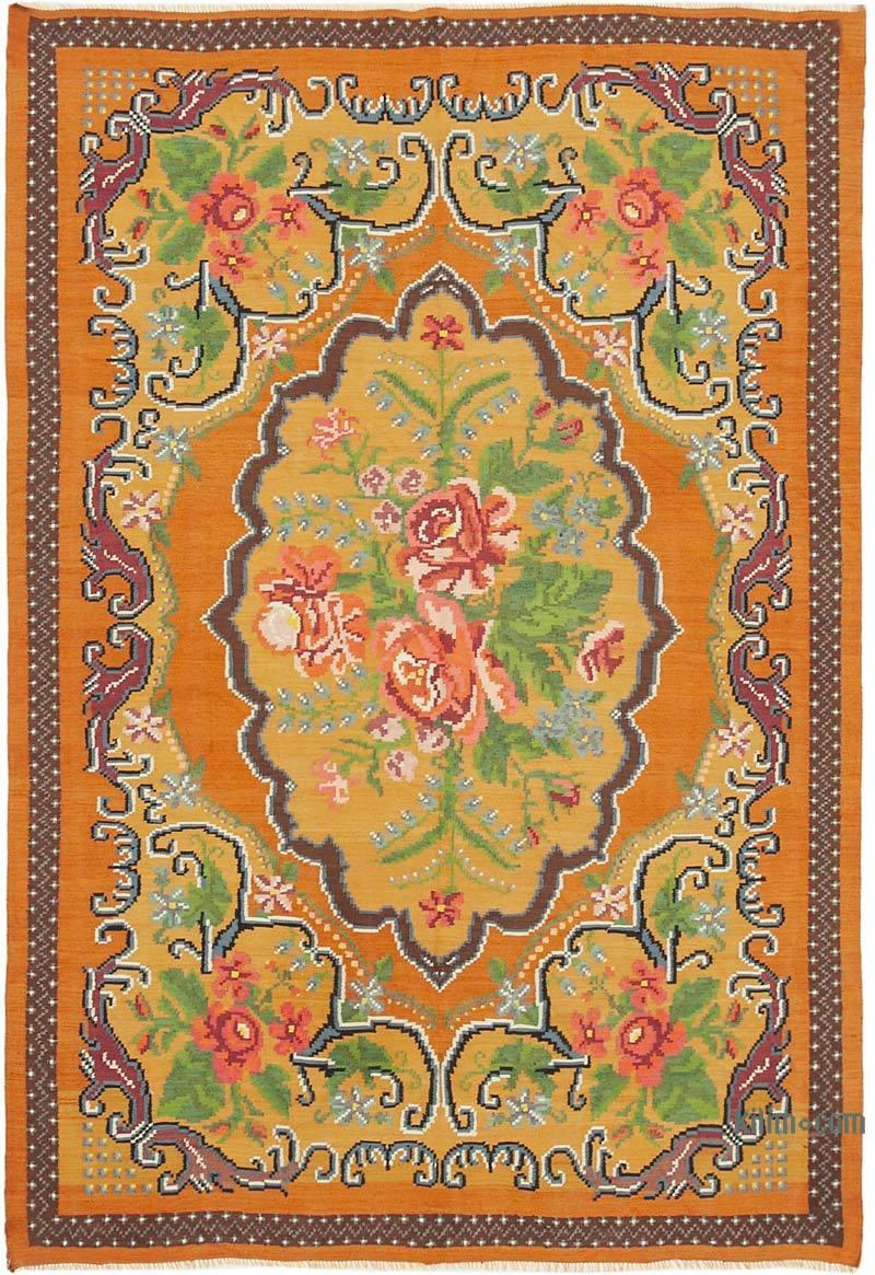 Çok Renkli Vintage Moldova Kilimi - 194 cm x 283 cm - K0039187