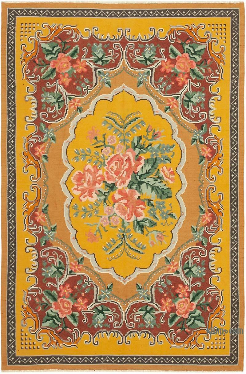 Çok Renkli Vintage Moldova Kilimi - 197 cm x 291 cm - K0039193