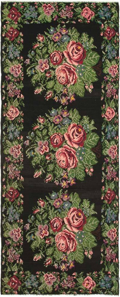 """Multicolor Vintage Handwoven Moldovan Kilim Area Rug - 6' 5"""" x 15' 5"""" (77 in. x 185 in.)"""