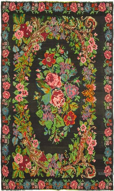 Çok Renkli Vintage Moldova Kilimi - 215 cm x 355 cm