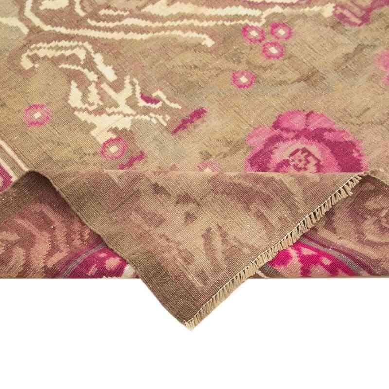 """Multicolor Vintage Handwoven Moldovan Kilim Area Rug - 7' 4"""" x 11' 7"""" (88 in. x 139 in.) - K0039216"""