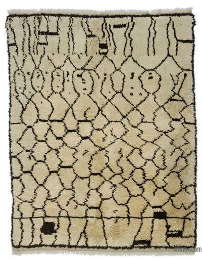 "New Contemporary Hand-Knotted Wool Area Rug - 5'11"" x 7'3"" (71 in. x 87 in.)"