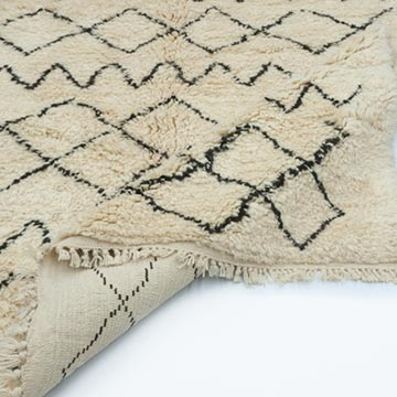 Brown, Beige New Contemporary Hand-Knotted Wool Area Rug - K0039221