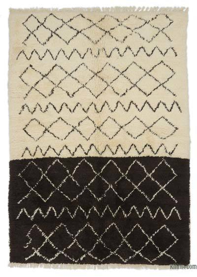 "New Contemporary Hand-Knotted Wool Area Rug - 6' 1"" x 8' 5"" (73 in. x 101 in.)"