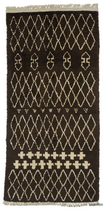 "New Contemporary Hand-Knotted Wool Area Rug - 3'11"" x 8'1"" (47 in. x 97 in.)"