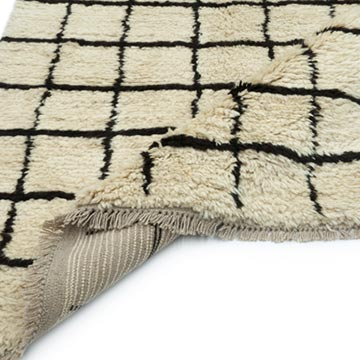 Beige, Brown New Contemporary Hand-Knotted Wool Area Rug - K0039229