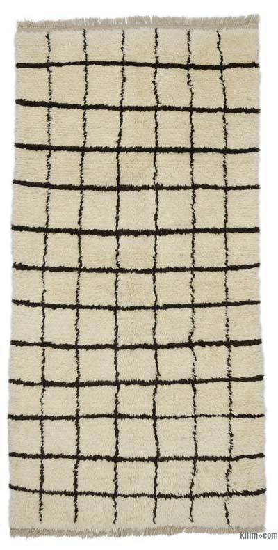 "New Contemporary Hand-Knotted Wool Area Rug - 3'9"" x 7'7"" (45 in. x 91 in.)"
