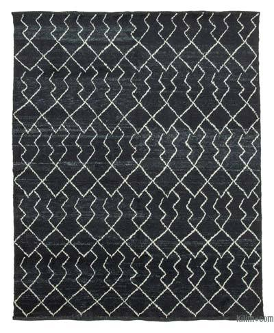 "New Contemporary Hand-Knotted Wool Area Rug - 7'10"" x 9'8"" (94 in. x 116 in.)"