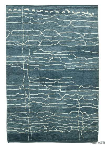 "New Contemporary Hand-Knotted Wool Area Rug - 6'4"" x 9'2"" (76 in. x 110 in.)"