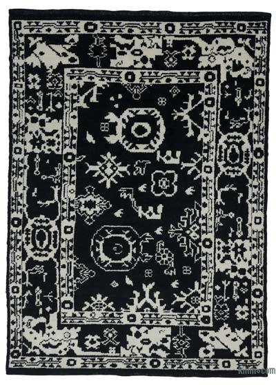 "New Contemporary Hand-Knotted Wool Area Rug - 7'6"" x 10'3"" (90 in. x 123 in.)"