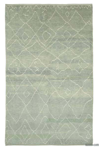 "New Contemporary Hand-Knotted Wool Area Rug - 7' 4"" x 11' 10"" (88 in. x 142 in.)"